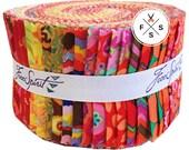 Kaffe Fassett Citrus, Design Roll, Precut Fabric Quilting Strips, Free Spirit, J14