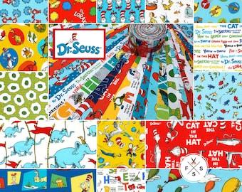 fe58c118 Pre-Order Big Strip Roll, Dr. Seuss Favorites, 45 Piece, Precut Fabric,  Quilting Cotton, Robert Kaufman ROLL-SEUSS-45