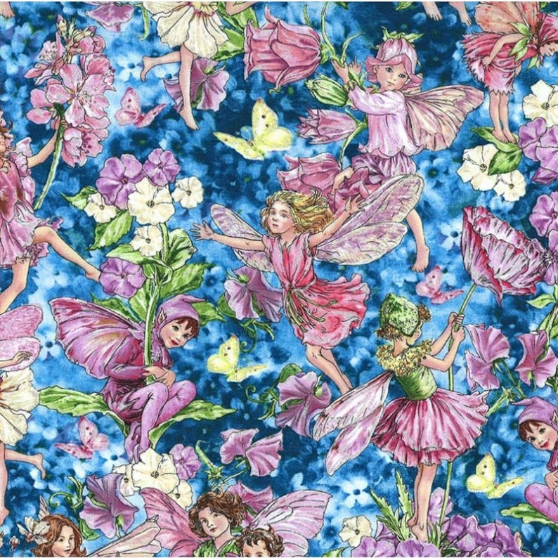 Michael Miller Best Of DM5406 Red Holiday Fairies  BTY Cotton Fabric