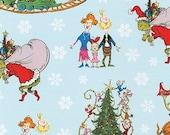 Dr. Seuss, How the Grinch Stole Christmas, ADE-74238-88, Christmas Fabric, Robert Kaufman Fabric, 100 Cotton, 1383