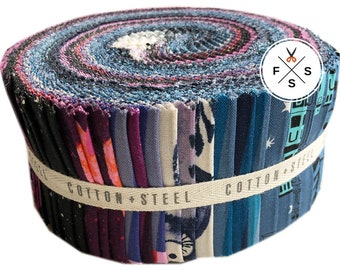 "Cotton + Steel Eclipse 2.5"" Strips Roll Precut Fabric Quilting Cotton C5999-248"