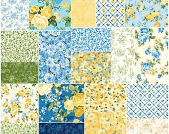 "OOP Robert Kaufman Victoria Gardens Precut 5"" Charm Pack Fabric Quilting Cotton Squares CHS-602-42 SQ14"