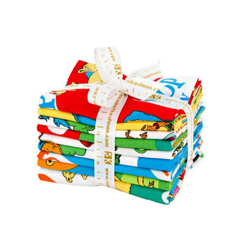 Hop On Pop Fat Quarter Bundle 8 FQs Seuss FQ-1246-9 Panel Robert Kaufman Fabric Precut Cotton Fabric Quilting Dr