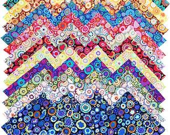 "Kaffe Fassett Paperweight 5"" Precut Fabric Quilting Cotton Squares Free Spirit SQ52"