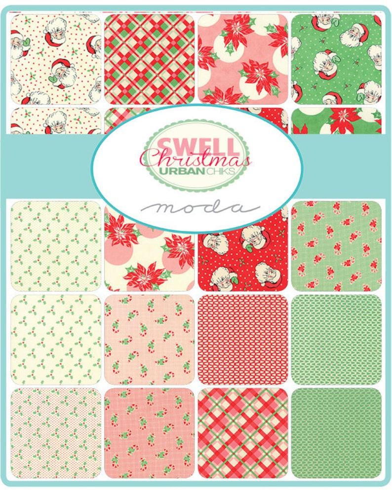 Moda Christmas Fabric 2019.Pre Order Moda Swell Christmas Precut 5 Charm Pack Fabric Quilting Cotton Squares 31120pp Urban Chiks