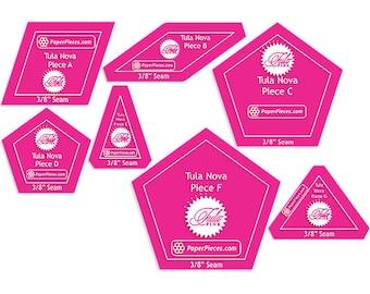 Tula Nova Acrylic Templates 7ct Paper Pieces by Tula Pink ACRTULANOVA