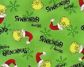 Dr. Seuss, How the Grinch Stole Christmas, ADE-15783-7, Christmas Fabric, Robert Kaufman Fabric, 100 Cotton, 1334