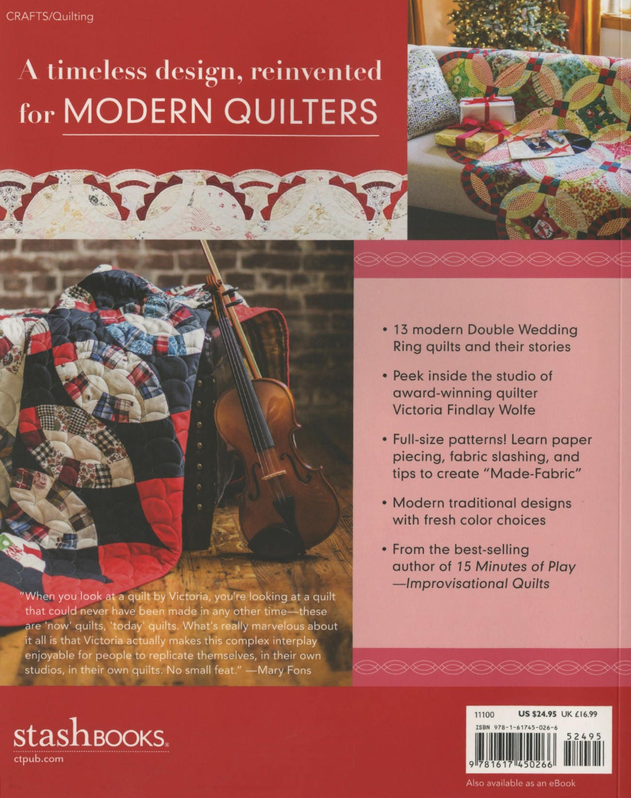 Double wedding Ring Quilts Pattern Book by Victoria Wolfe 11100 from ...