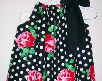 6a1d5abd5517a Pillowcase Dress | Dress with Roses | Toddler Girl Dress | Floral Dress for  Girls | Rose Dress | Baby Girl Dress | Special Occasion Dress