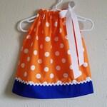 Florida Gator Dress | Pillowcase Dress | University of Florida | Gators | Orange White Blue | Game Day Dress | baby dress | toddler dress
