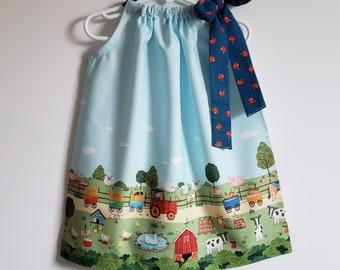 Chicken Dress Girl Chickens Dress Farm Dress Farmyard Dress Farm Girl Chick Days Country Dress Girl Ivory Dress Country Party Dress