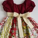 Christmas Dress Aspen Frost Holiday Dress Baby Girl Dresses Short Sleeve Dress with Sash Baby Dress Toddler Dress with Snowmen