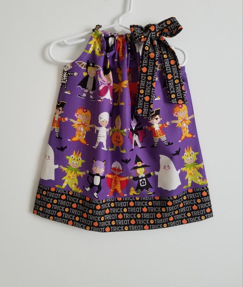 18m Halloween Dress  Pillowcase Dress  Toddler Girl Dress image 0