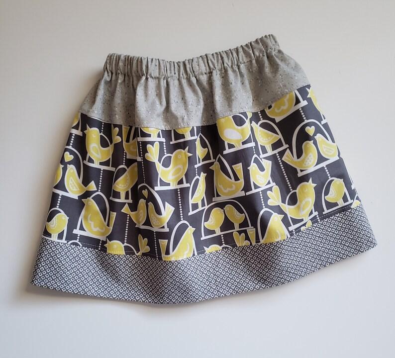 3t Skirt with Birds  size 3 Toddler  Bird Skirt  Kids Skirt image 0
