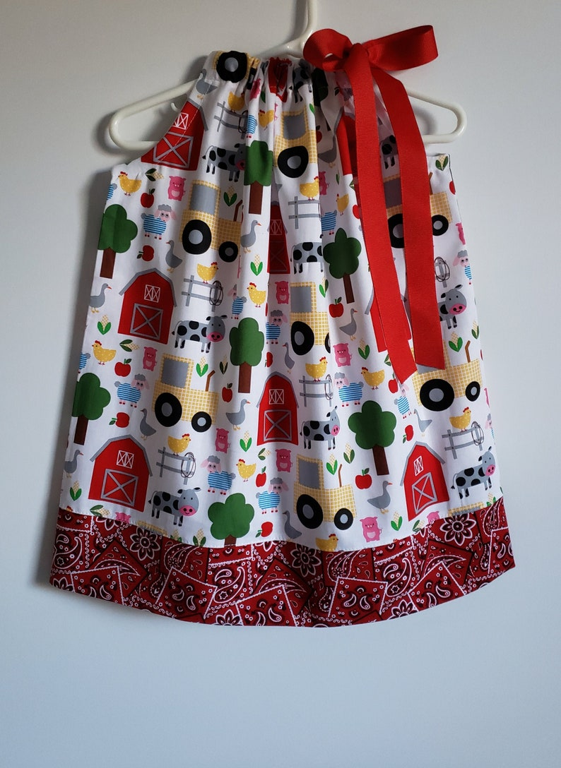 Pillowcase Dress  Farm Dress  Toddler Girl Dress  Farm image 0