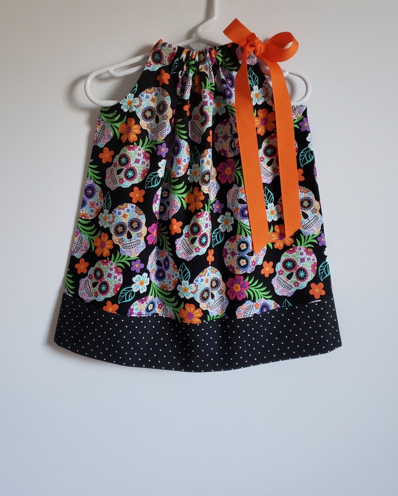 Pillowcase Dress  Sugar Skulls Dress  Day of the Dead  image 0