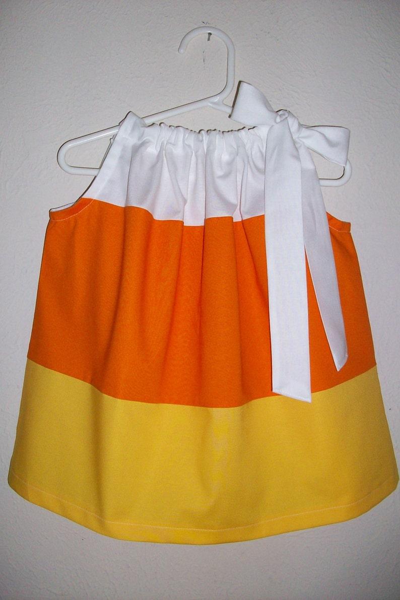 Candy Corn Dress  Pillowcase Dress  Halloween Dress  Fall image 0