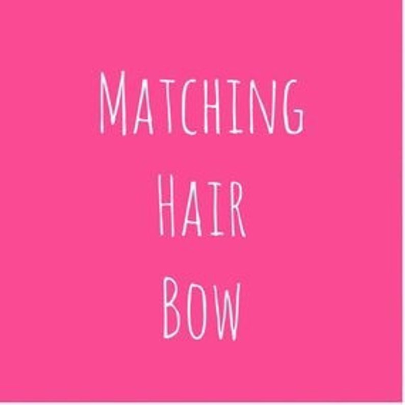 Add a Bow Made to Match a Little Sweetie Boutique Dress image 0