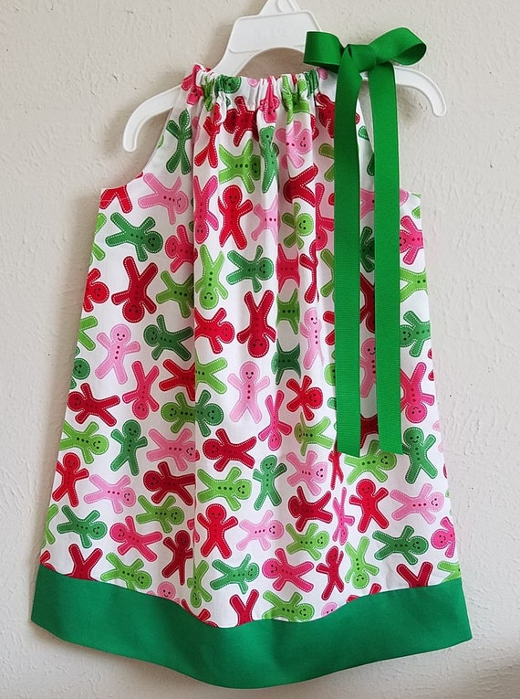 e65876660c098 5t Christmas Dress Pillowcase Dress Gingerbread Dress | Etsy