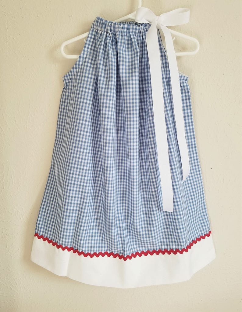 Dorothy Dress  Wizard of Oz Dress  Pillowcase Dress  Blue image 0