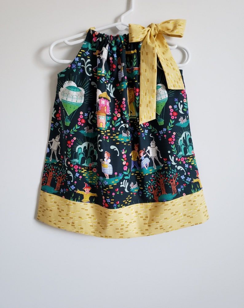 Pillowcase Dress  Wizard of Oz Dress  Dress with Dorothy  Dark Green