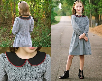 Elle Vintage Dress PDF Downloadable Pattern by MODKID... sizes 2T to 12 Girls included - Instant Download