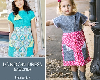 London Dress PDF Downloadable Pattern by MODKID... sizes 2T to 10 Girls included - Instant Download
