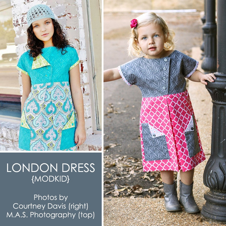 London Dress PDF Downloadable Pattern by MODKID... sizes 2T to image 0