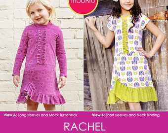 Rachel Knit Dress PDF Downloadable Pattern by MODKID... sizes 2T to 10 Girls included - Instant Download