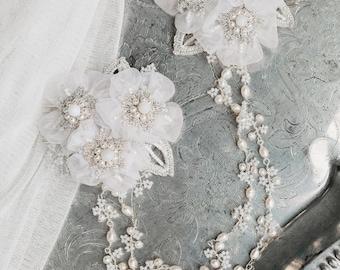 "Hair Chain Headpiece | Bridal Headpiece | Wedding Halo | Bridal Comb | Wedding Hair Accessory | Veil Alternative | ""Myrtle"""