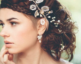 """Small Bridal Butterfly Earrings 