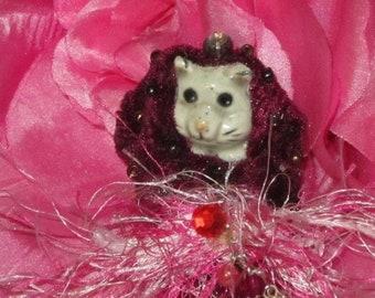 Ceramic Kitten in Bunting