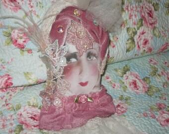 Vintage Handmade Doll Face