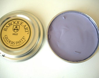 Gilders Paste - Violet - Add color to Wood, Metal, Ceramics, and More - Purple Wax Paste
