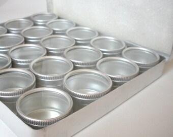 Aluminum Tin Storage Box with 20 Lided Jars