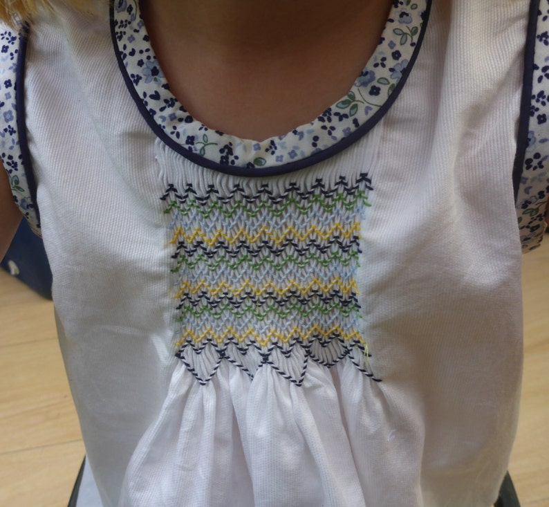 Size 4 Hand Smocked Top and Matching Pants