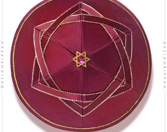 David Star kippah | Jewish wedding - Bar Mitzvah - Shabbat | Chanukah gift