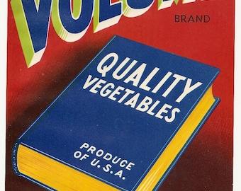 10 Old CALIFORNIA Vegetables CRATE LABELS Guadalupe,Calif.,Salinas,El Centro,Etc..