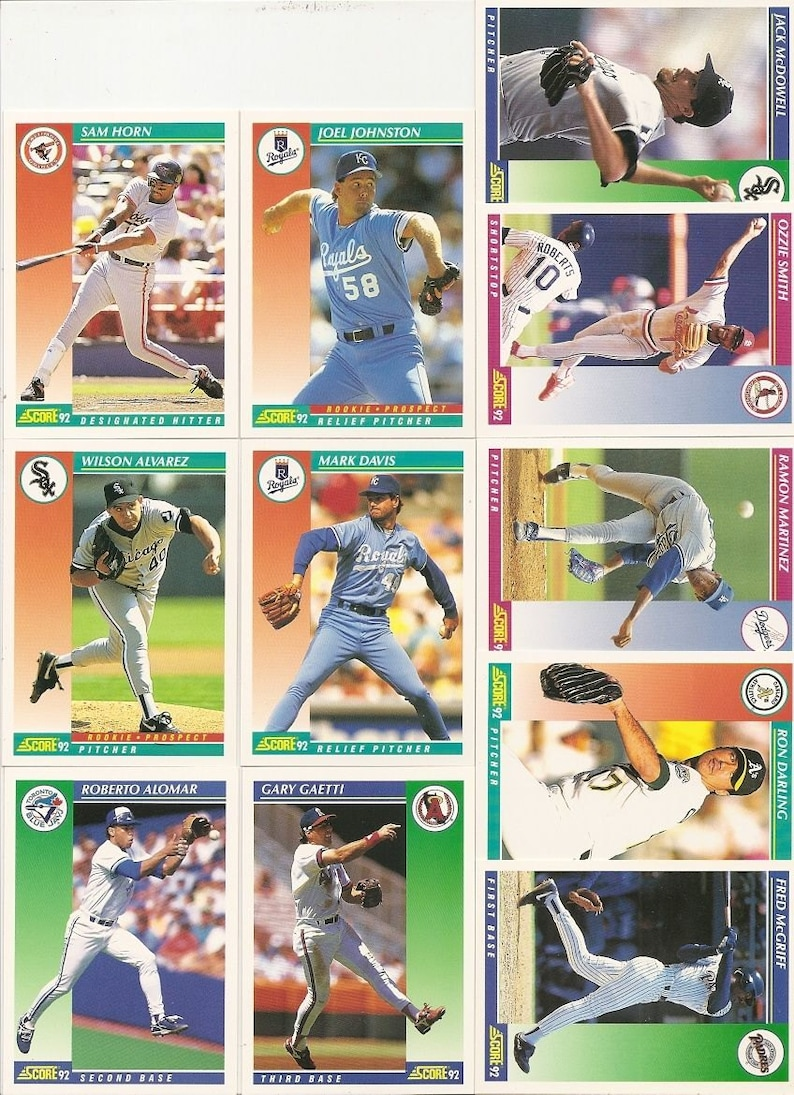 132 Old Vintage 1992 Score Baseball Picture Cards