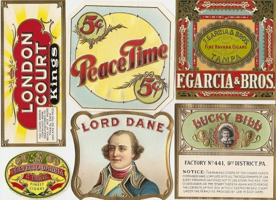 33 different 1930s plus TOBACCO and CIGAR Labels TOBACCO Due to the  continuing Ofac sanctions against Cuba origin of labels from u s