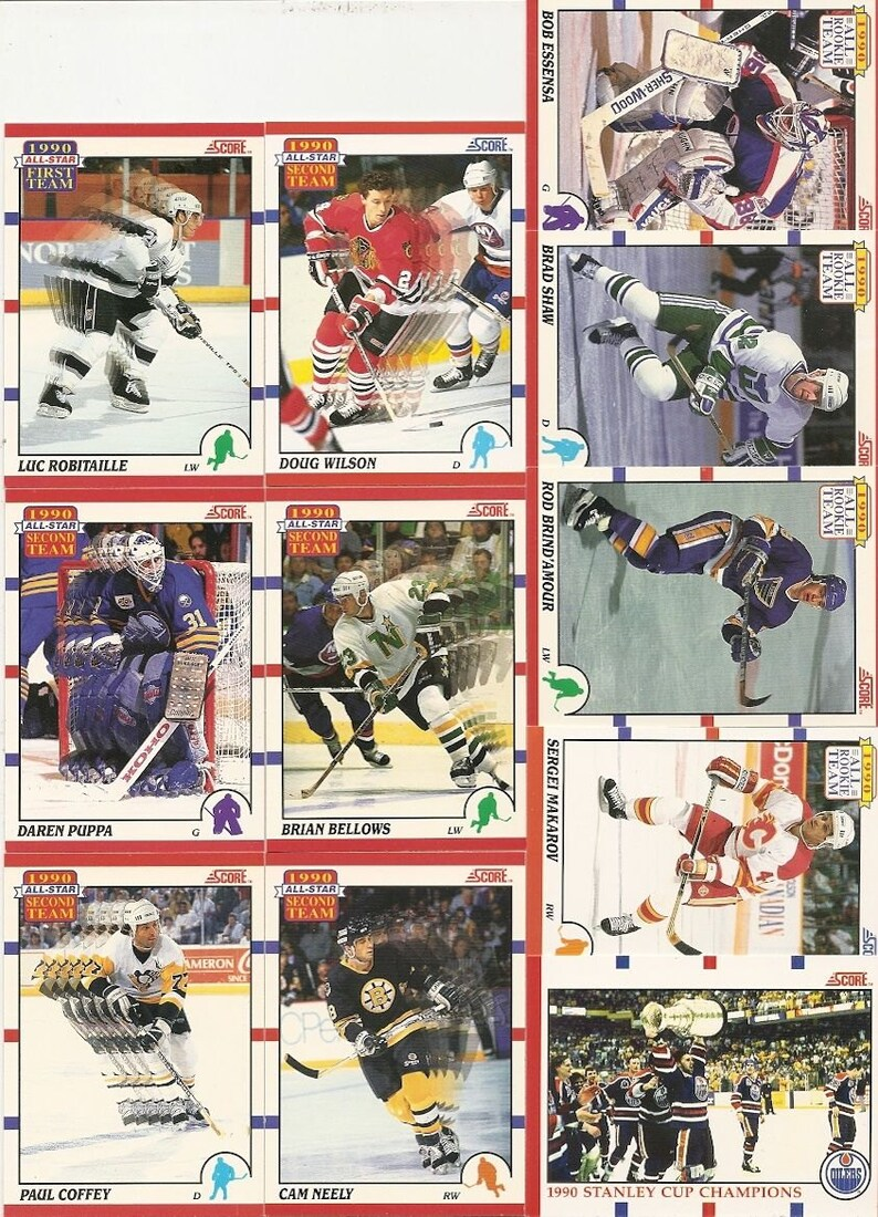 318 Old VINTAGE 1990 Score HOCKEY PICTURE Cards