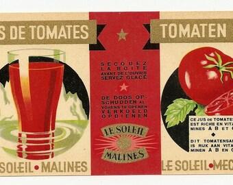 10 Old Vintage TOMATO / Veggie LABELS Milroy,Jory,KING'S,Monarch,Le Soleil etc....