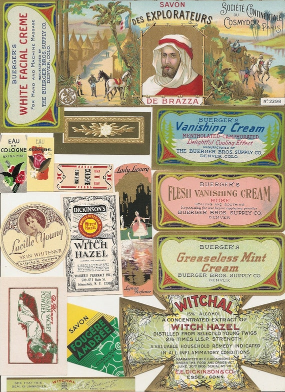 97 1930s Plus Medicine Cabinet Labels DrugstorePharmacy | Etsy