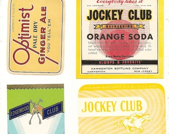 25 different old 1930's PLUS SODA LABELS