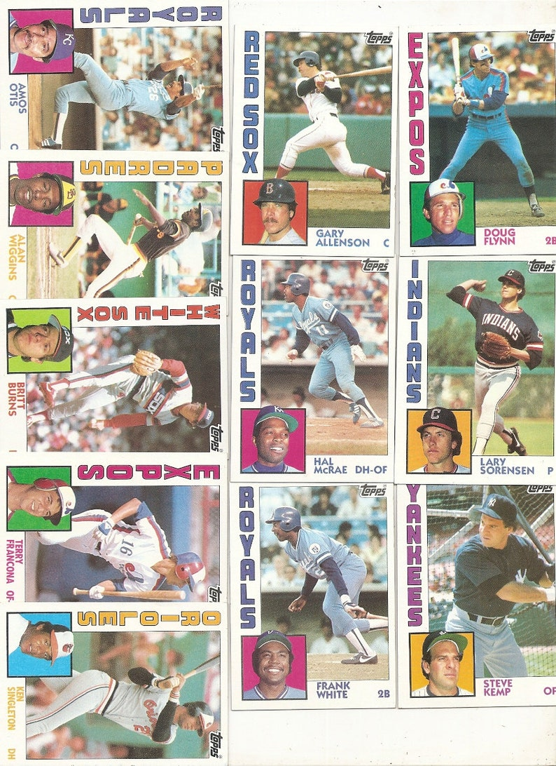 Baseball  Picture Cards 98 Old Vintage 1984 TOPPS CHEWING Gum Inc