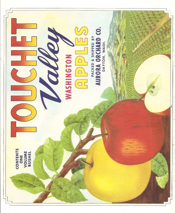Manson Washington Best Bite Apple Fruit Crate Label Art Print