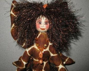 ON SALE: Fiber Sculpture Giraffe Fairy