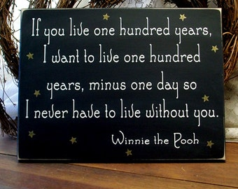 If You Live One Hundred Years Wood Sign Primitive Wall Decor, Home Decor, Wall Art