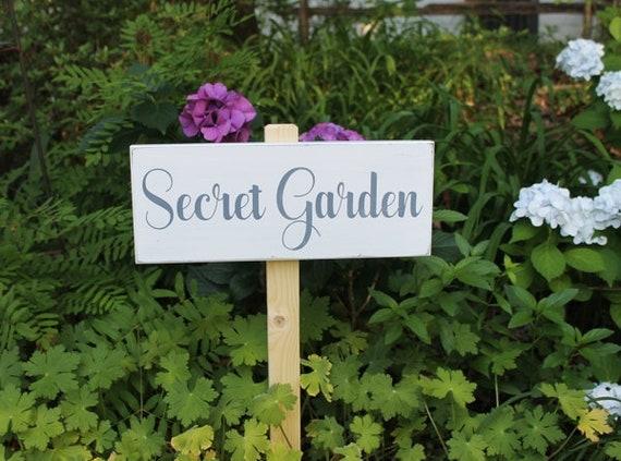 secret garden signs, secret garden wood sign hand painted for garden or yard sign | etsy, Design ideen