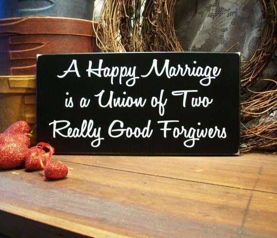 Funny Marriage Quotes For Newlyweds: Items Similar To Wood Sign A Happy Marriage Wedding